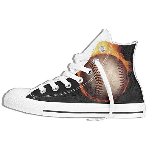 Classiche Sneakers Alte Scarpe Di Tela Anti-skid Cool Baseball Casual Da Passeggio Per Uomo Donna Bianco