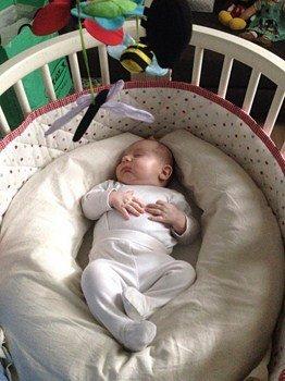 Cuscino allattamento in Pula di Farro Stile Naturale - riduttore lettino