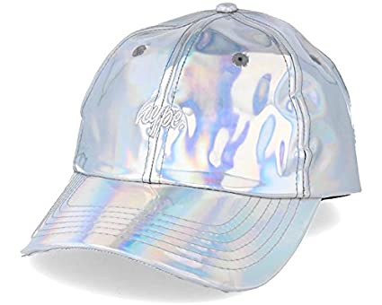 79b48ff34a0 HYPE Iridescent Dad Hat Silver Adjustable  Amazon.co.uk  Clothing