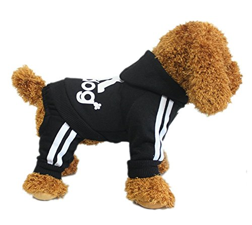 YAAGLE Pet Warm Sweater Hoodie Coat Sweatshirt Clothes Costume Apparel for Dog Puppy Cat,Black]()