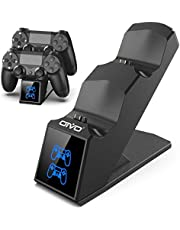 OIVO PS4 Controller Oplader, Draadloze Controller Laadstation Charger PS4 met LED Indicator, Compatibel Docking Station voor Sony Playstation 4/ PS4 PRO/ PS4 Slim