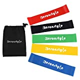 Esonstyle Exercise Resistance Loop Bands Set 5 Level Elastic Stretch for Yoga, Pilates, Home Fitness, Workout, Strength Training, Carry Bag included
