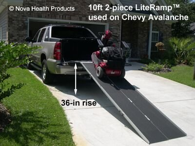 Amazon.com: 6 Foot Double Fold Literamp Detachable Portable Wheelchair Ramp:  Health U0026 Personal Care
