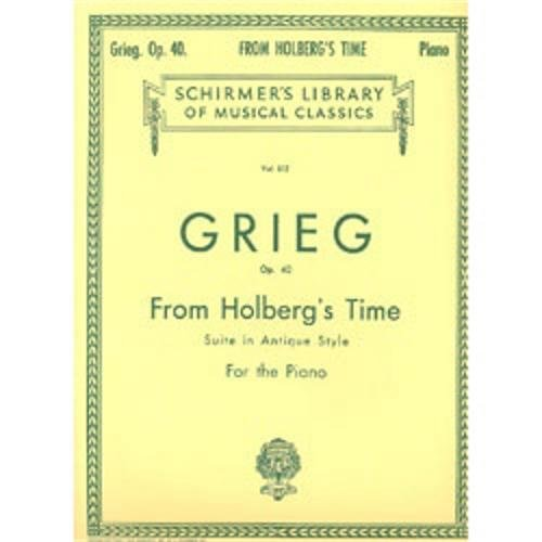From Holberg's Time (Suite in Antique Style), Op. 40 Piano Solo PDF