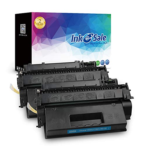 INK E-SALE 2-Pack Compatible Toner Cartridge Replacement for HP 05X CE505X Toner High Yield for use in HP Laserjet P2055dn P2055 P2055D P2055X HP Pro 400 M401n M401dne M401dw MFP M425dn Printer