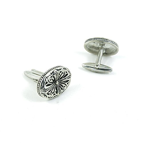 50 Pairs Cufflinks Cuff Links Fashion Mens Boys Jewelry Wedding Party Favors Gift YXF028 Retro Roman Cross Ovral by Fulllove Jewelry