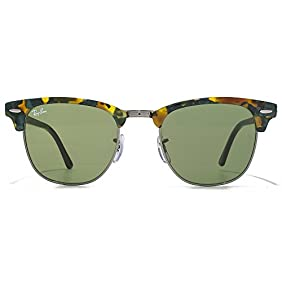 Ray-Ban Clubmaster Sunglasses in Spotted Green Havana RB3016 11594E 51