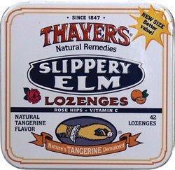 Slippery Elm Tangerine 42 Lozenges by Thayer's