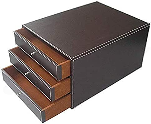 Archivadores de oficina, organizador de archivos, tamaño A4, plástico para almacenamiento, armario, cajón, armario, archivador, caja de almacenamiento (diseño: 3 cajones) para el hogar o la oficina: Amazon.es: Hogar