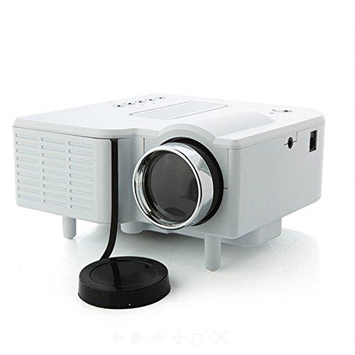 Mini 24W Multimedia LCD Video Game Home Digital Projector w/ SD / AV / USB / HDMI Port - White