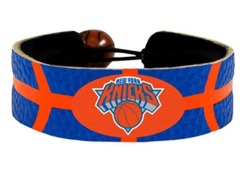 Nba New York Bracelet Knicks - GameWear New York Knicks NBA Team Color Basketball Leather Bracelet