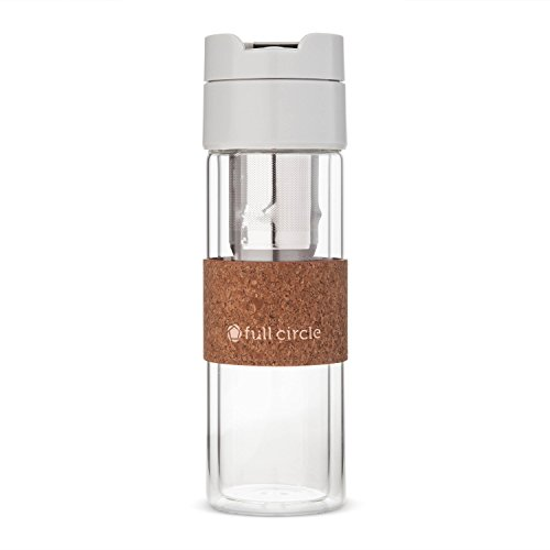 Full Circle Brumi - Hot Brew or Cold Brew Portable Pour Over Coffee Mug, 12 oz, Gray by Brumi