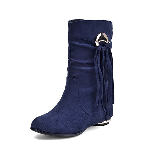 Blue amp;N Square Tassels Metal Ornament Girls Heels A Frosted Boots vq1zSPq