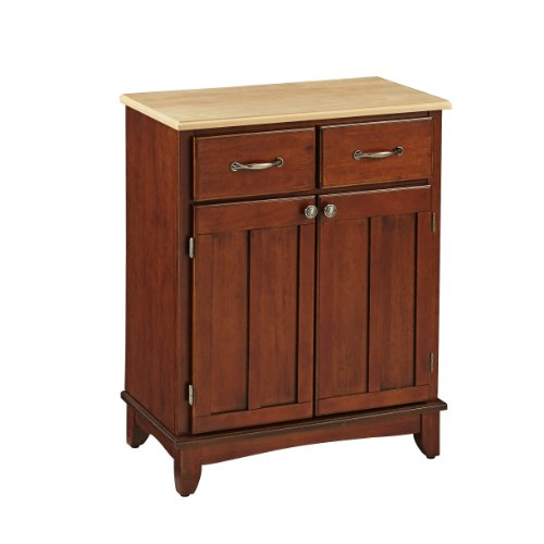 (Buffet of Buffet Cherry Medium with Natural Wood Top by Home Styles)