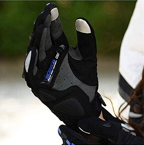 SCOYCO Screen Sensitive Carbon Fiber Knuckle Reinforced Breathable Shockproof Wear Resistant Warm Crashproof Cycling Racing Motorcycle Gloves(BLACK,XL) by SCOYCO (Image #2)