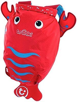 Trunki Kid's Waterproof Swim & Gym Bag - PaddlePak Pinch Lobster (Red)