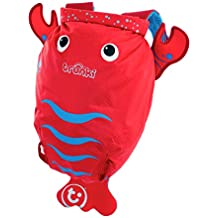 Trunki Kid's Waterproof Swim & Gym Bag – PaddlePak Pinch Lobster (Red)