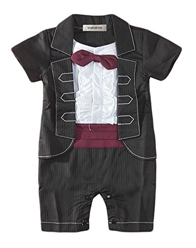 f277d073b Stylesilove Ruffle Vest Red Girdle Baby Boy Tuxedo Romper ~ baby rompers ~  Bajby.com - is the leading kids clothes, toddlers clothes and baby clothes  store.