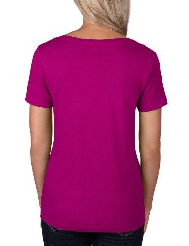 Raspberry Rosa Donna corta Manica Maglietta Pink Anvil OSvw7x8qw