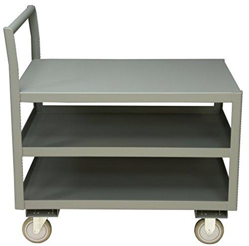 "Durham LDO-3048-3-95 Service Cart, 48"" x 30"" x 30"", 3 Shelves, 1200 lbs. Capacity, Overall Dim: WxDxH (In.) 30-1/4 x 51 x 37-1/2"