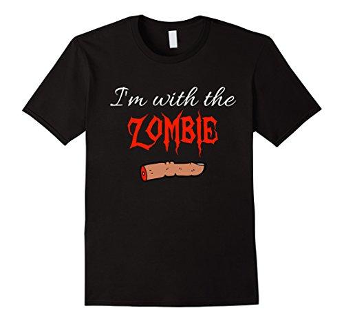 Gory Halloween Costumes For Couples (Mens I'm With The Zombie Gory Halloween Couple Funny T Shirt Medium Black)