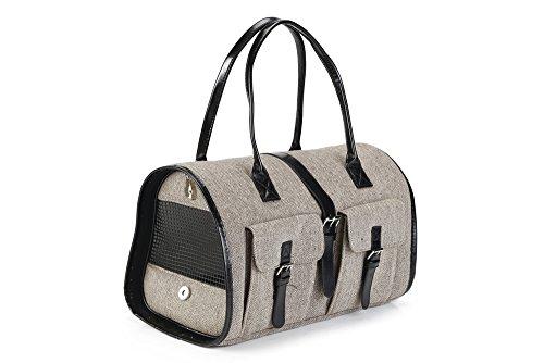 Beeztees Travel Bag, 38 x 17 x 24 cm, Tweed