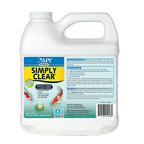 (API Pond Simply Clear Pond Water Clarifier 64 oz Bottle)
