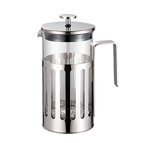 SXJS French Press Coffee Tea Maker with Toughened Shockproof Glass Pot and Heat Resistant Glass, for Home and Office…