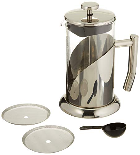Phoenix French Press 34oz Coffee Maker model H601L, Stainless Steel and Borosilicate Glass Pot, Double screen press…