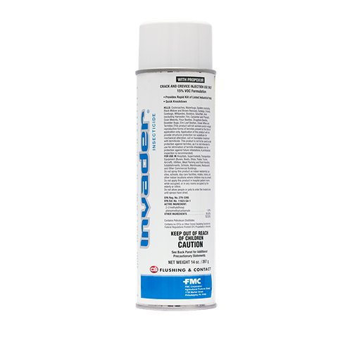 CASE OF 12 - INVADER AEROSOL INSECTICIDE 14OZ CANS by FMC by FMC