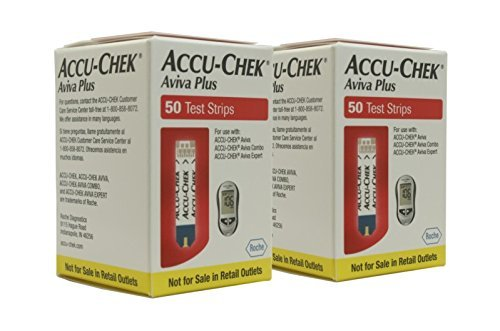 ACCU-CHEK Aviva Plus Mail Order Test Strips (100 Count) 2 Packs of 50 (Accu Chek Aviva Plus Nfr Test Strips)