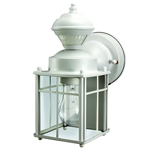 Cheap Heathco HZ-4132-MW White Bayside Mission Style Motion Activated Lantern