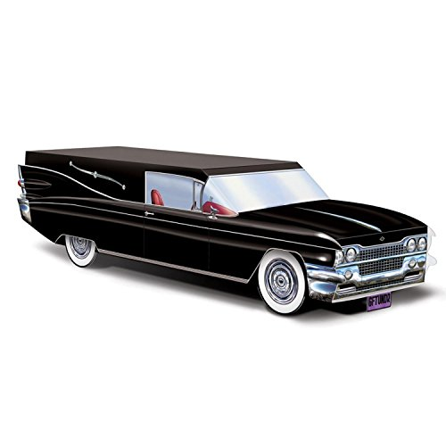 Party Central Club Pack of 12 Black Hearse Halloween Centerpiece Decorations -
