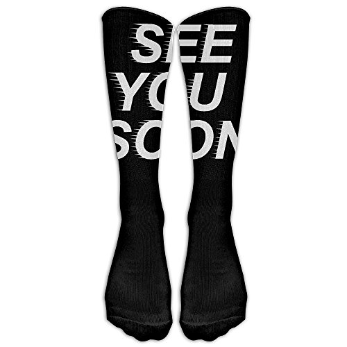 See Costumes You'll 13 (Unisex Knee High Long Socks See You Soon How Do You Do Cosplay High Long Stockings)