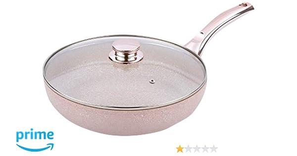Amazon.com: Bisetti BT-28351 Stonerose Aluminium Fry Pan Large Pink: Kitchen & Dining