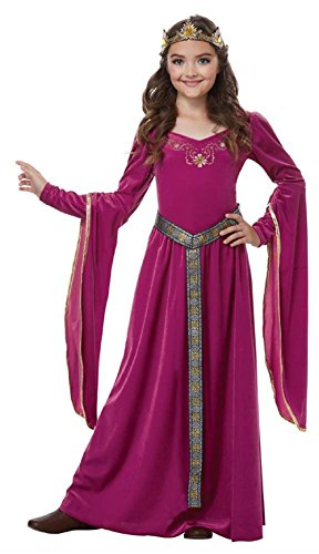 California Costumes Medieval Princess Queen, Royalty, Renaissance Girls Costume, XL 12-14 -