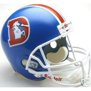 Denver Broncos 1975-1996 Deluxe Replica Throwback Full Size Helmet (Quantity of 1)