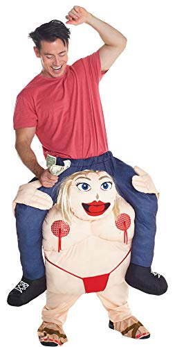 Morph Unisex Piggy Back Fat Pole Dancer Piggyback Costume - With Stuff Your Own Legs