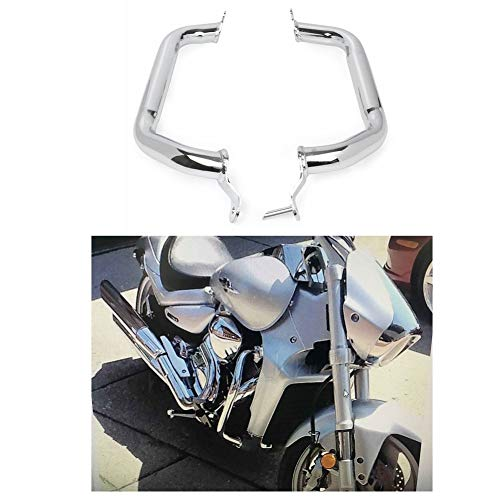 GZYF Chrome Motorcycle Engine Guard Highway Crash Bar Protective Bar Fits Suzuki M109R Boulevard 2007-2016 ()
