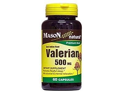 Mason natural valerian 500 mg premium herbal capsules - 60 ea