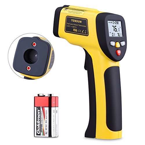 Sharp Ir Sensor - Infrared Thermometer, Tensun Dual Laser Thermometer Temperature Gun Non-contact Surface Digital IR Thermometer -58℉~1202℉ (-50℃ to 650℃) Instant Read Handheld with Adjustable Emissivity