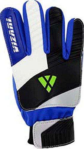 Vizari Junior Keeper Glove, Blue/White/Black, Size 5 - Kids Goalie Gloves
