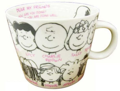 Made in Japan Snoopy Peanuts Character Large Size Mug Cup Friends