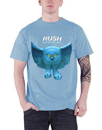 Plastic Head Rush Fly By Night Album Cover Official Mens Blue T (Rush Progressive Rock)
