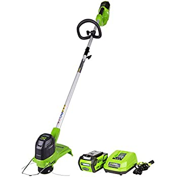 Greenworks 12-Inch 40V Cordless String Trimmer, 4.0 AH Battery Included ST40B410