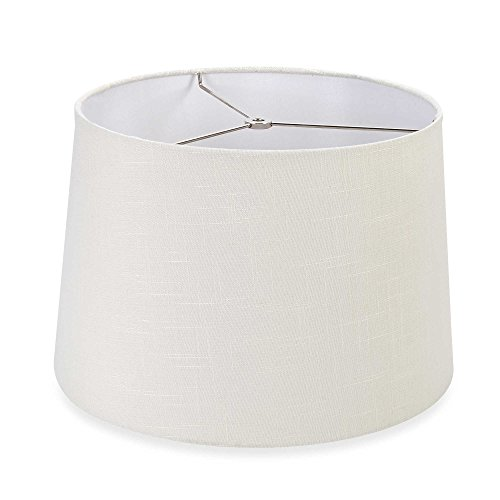 Mix & Match Large 15-Inch Hardback Drum Lamp Shade in Off Wh
