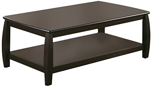 Coaster Home Furnishings Marina Coffee Table with Shelf Cappuccino (Coffee Corners Table With Rounded)