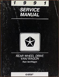 Copy of 1991 Dodge Ram Van and Wagon Repair Shop Manual Original B100-B350