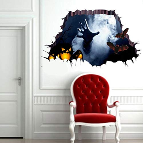 Rampmu 3D Stereo Removable Halloween Series Wall Stickers Home Art Decoration Wall Stickers