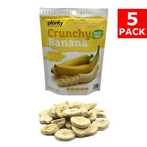 Planty Freeze Dried Fruit Snacks, Crunchy Fruit Crisps / Fruit Chips (Banana, 5-Pack)